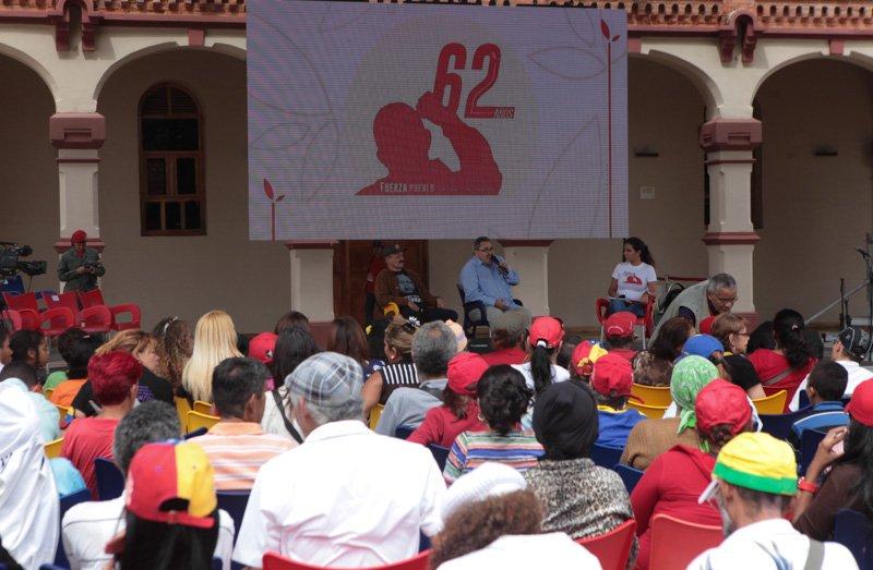 En el Cuartel de la Montaña, en Caracas, se realizaron diversas actividades para celebrar los 62 años del comandante.