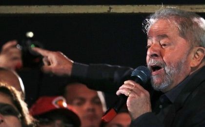 Lula during a protest against Brazil