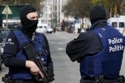 Belgium police officers during a police operation in Etterbeeck, near Brussels, Belgium, April 9, 2016.