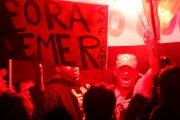 Protest against Temer and in support of Rousseff in Sao Paulo