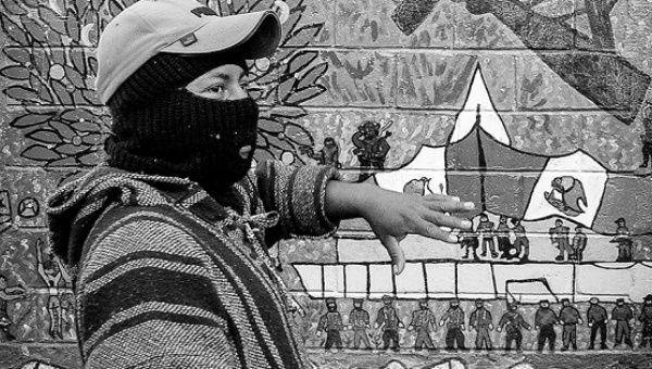 Zapatista creative resistance shines a light on path to for Mural zapatista