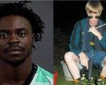 Dwayne Stafford (left) escaped from his cell and punched Dylann Roof (right), photographed holding a pistol and Confederate flag.