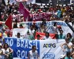 Brazilian students protest against the