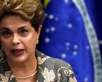 Brazil's suspended President Dilma Rousseff speaks during the final session of debate and voting on her impeachment trial in Brasilia, Aug. 29, 2016.