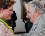 Mujica during Rousseff's inauguration in Brasilia, January 2, 2015