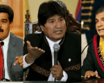 Maduro from Venezuela, Morales from Bolivia and Correa from Ecuador support the Banks of the South