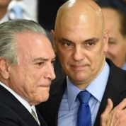 Brazilian President Michel Temer appears alongside Justice Minister Alexandre de Moraes in Brasilia, in this photo from May, 2016.