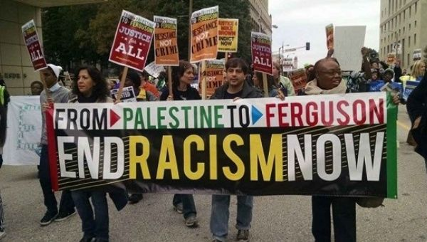Activists make the links between Black Lives Matters and Palestine.