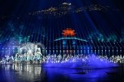 A performance during an evening gala for the G20 Summit at West Lake in Hangzhou, Zhejiang province, China, Sept. 4, 2016.