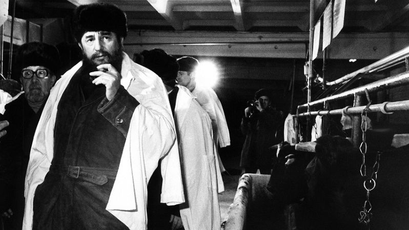 "Cuban President Fidel Castro in Moscow 1981 for the ""50th anniversary of the Soviet Union"""