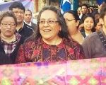 Sandra Moran (C) is a longtime feminist activist and Guatemala's first openly gay lawmaker in Congress.