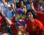 Women celebrate the 55th anniversary of the Federation of Cuban Women, August 2015.