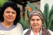 Berta Caceres with her mother, Austra Flores, together at their home in La Esperanza, Intibuca, in western Honduras.