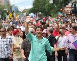 PM Justin Trudeau at the Montreal pride parade
