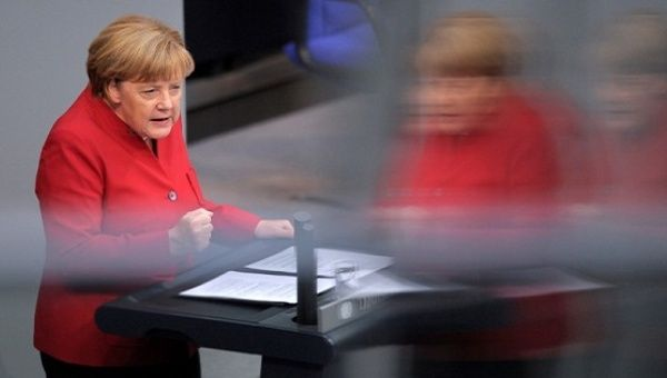 German Chancellor Angela Merkel, speaks during a meeting at the lower house of parliament Bundestag on 2017 budget in Berlin, Germany, September 7, 2016.