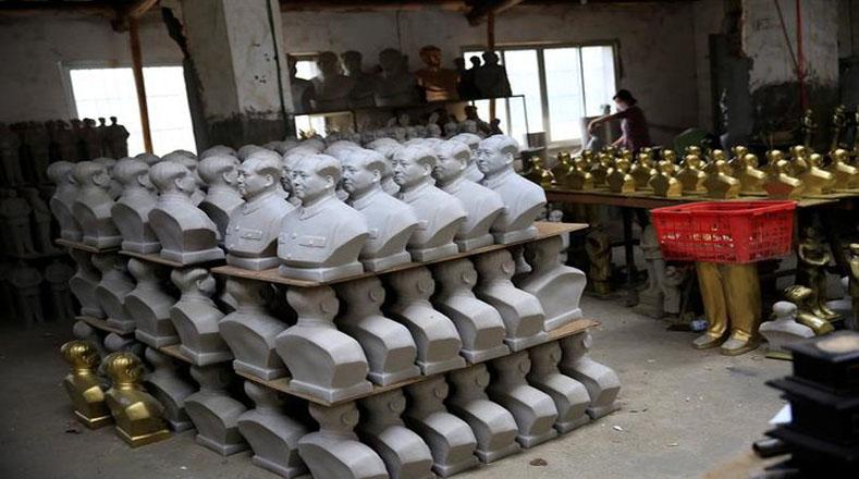 Los bustos de Mao cada vez están más presentes en la populosa nación asiática.