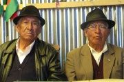 Pensioners Julio and Eduardo have been campaigning since 2012 in La Paz