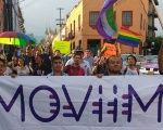LGBTQ activists march down the streets of Cuernavaca, Mexico after the conclusion of the first-ever national meeting of activists, Aug. 27, 2016.