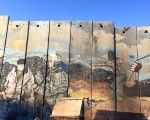 A photo taken by Abby Martin of the Israeli separation wall in the West Bank during her visit to the region.