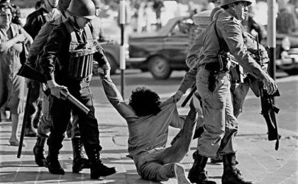 Archive photo of brutality under Argentine brutality