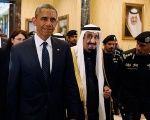 U.S. President Barack Obama with Saudi Arabia's King Salman.
