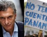 A protest sign against Argentine President Mauricio Macri reads: