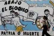 Graffiti in Cuba reads