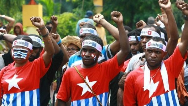 Students rallying for the freedom of West Papua in 2013