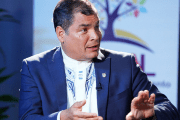 Ecuadorean President Rafael Correa speaks to teleSUR during the Non-Aligned Movement summit in Margarita, Venezuela, Sept. 17, 2016.
