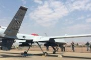 The MQ-9 Reaper Drone on display at Waterkloof Air Force Base, Pretoria, South Africa.