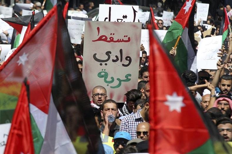 Ürdün: İşgalci İsrail İle Yapılan Doğalgaz Anlaşması Protesto Edildi – [Foto Haber]