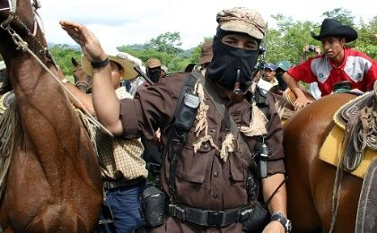 EZLN Subcomandante Marcos, now known as Galeano, in Chiapas in 2005