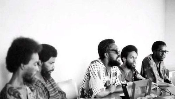 Makandal Daaga, center, speaks at a press conference in 1970.