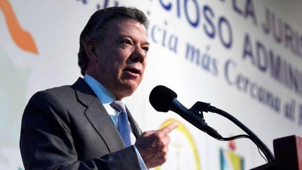El presidente Juan Manuel Santos anunció que hasta no concretarse la liberación del excongresista Odín Sánchez no se instalará la mesa de negociación.