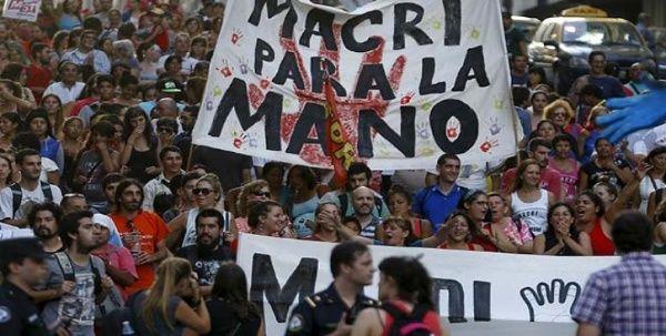 Prosiguen las protestas contra la politícas de Mauricio Macri