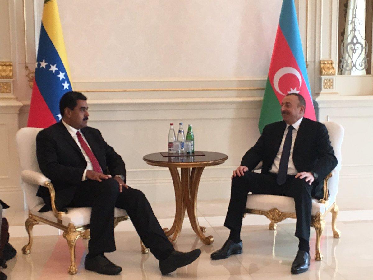 Presidentes de Venezuela y Azerbaiyán tratan sobre estabilización del mercado petrolero