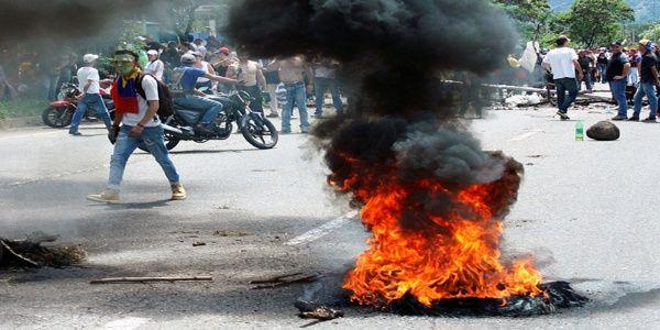 Manifestaciones de la oposición en San Cristóbal, estado Táchira.