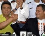 Lenin Moreno (l) will continue with the legacy created by president Rafael Correa in Ecuador.