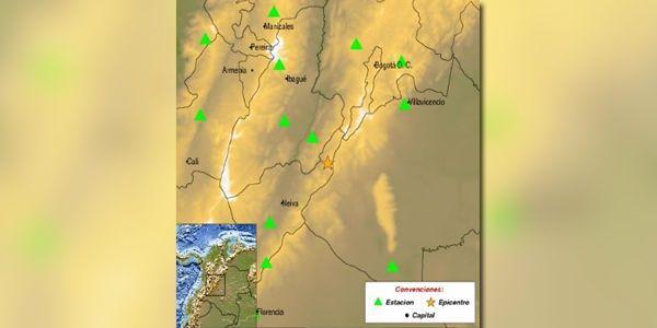 Sacudido el centro de Colombia por terremoto de 5,4 grados
