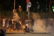 Brazilian protesters are fired upon with tear gas and rubber bullets.