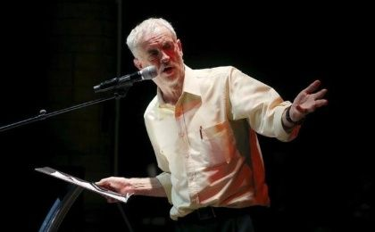 Labour Party leader Jeremy Corbyn gestures during a rally in London, Britain September 10, 2015.