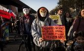 Activists take the streets in Chile earlier this year to protest against the TPP and Monsanto.