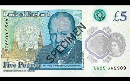 "The Governor of the Bank of England stated, ""Our banknotes acknowledge the life and work of great Britons. Sir Winston Churchill was a truly great British leader, orator and writer."""