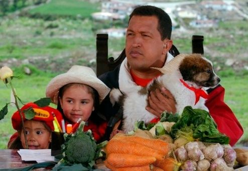 El presidente Hugo Chávez recibió a Nevado en 2003.