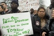 Immigrants and their supporters protest against planned raids to deport undocumented immigrants in Washington, D.C.