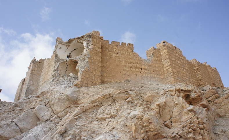The castle of Palmyra sustained slight damage in the battle to liberate Palmyra.