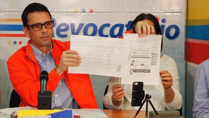 Henrique Capriles calificó el referendo revocatorio como una