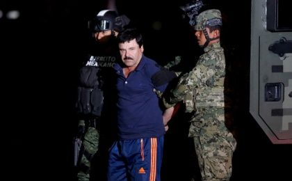 "In 2016 Joaquin ""El Chapo"" Guzman, fugitive drug lord, is captured in Mexico..."