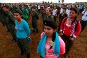 Fighters from FARC-EP during the opening the National Conference, near El Diamante in Yari Plains, Colombia.