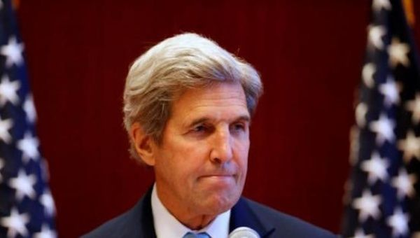 U.S. Secretary of State John Kerry is visiting Argentina before travelling to Brazil.